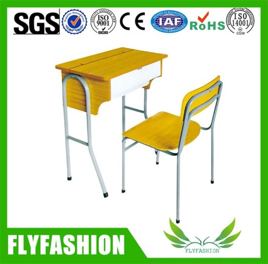 Classroom Metal Frame Student Desk and Chair School Furniture