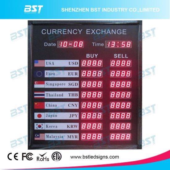 "Indoor Red Digit LED Exchange Rate Signboard (1.2"" digit size) pictures & photos"