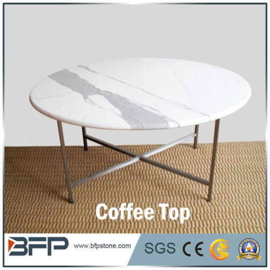 Round Modern Small Tea Table Coffee Table Marble Top pictures & photos
