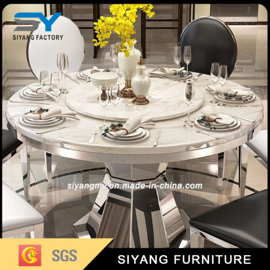 Furniture Round Table Extendable Dining