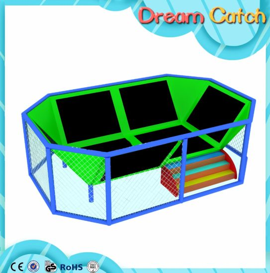 Factory of Kids Playground Equipment Trampoline pictures & photos
