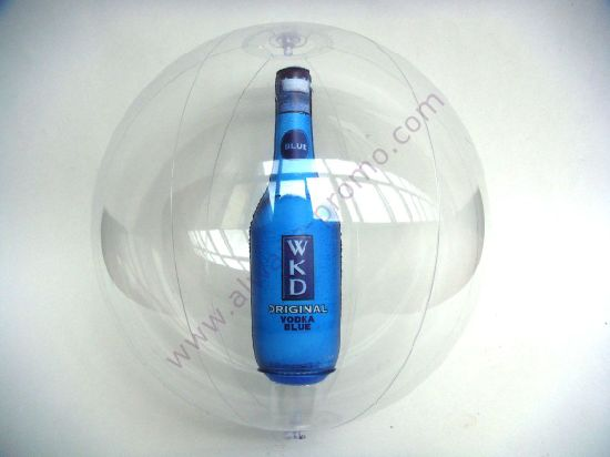 Inflatable Beach Ball with Bottle Inside for Promotion Use
