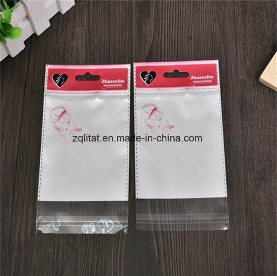Customzied Transparent OPP Printed Self-Adhesive Plastic Bag with Header pictures & photos