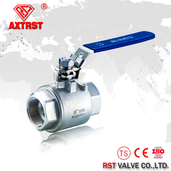 2 PC 1000wog 304 Stainless Steel Full Bore Ball Valve pictures & photos