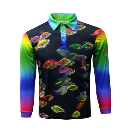 Funny Fishing Shirt Quick Dry Polyester Custom Wholesale Fishing Wear Mens