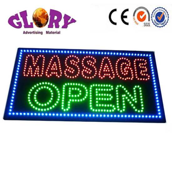 Acrylic Led Mage Open Sign For Display And Advertising Pictures Photos