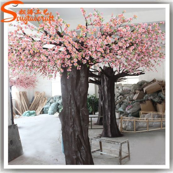 12f Pink Artificial Cherry Blossom Tree For Home Decor Pictures Photos