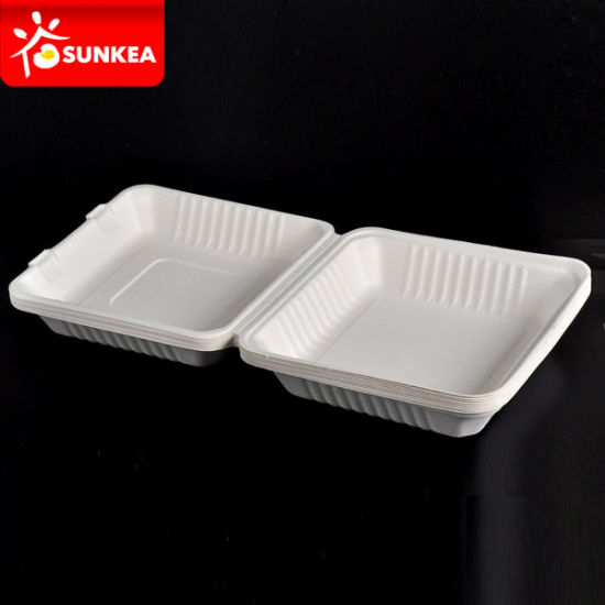 White Sugarcane Pulp / Bagasse Box pictures & photos
