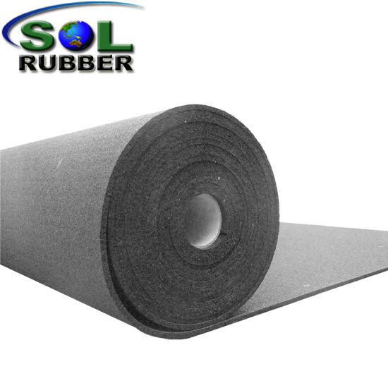 Sound Insulation Acoustic Under-Layer Rubber Floor in Roll pictures & photos