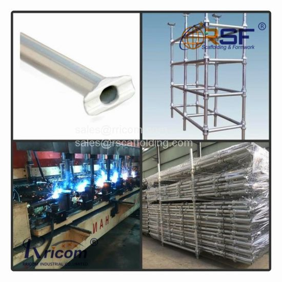 Galvanized Steel Cuplock Scaffolding System Construction Used