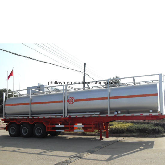 Heat Preservable Three Axles Trailer Transport Asphalt Tank pictures & photos