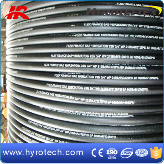 NBR Rubber Smooth Surface Hydraulic Hose R2at/2sn