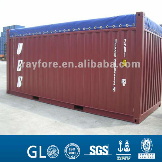 Open Top Container in Container with PVC Coated Tarpaulin