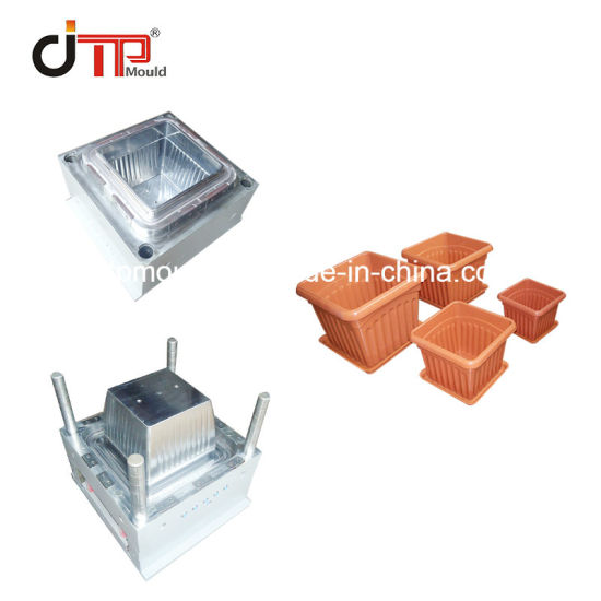 Special Designed Plastic Square Flower Pot Injection Mould pictures & photos