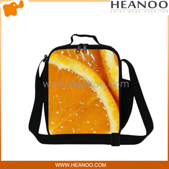 Fruit Polyester Cloth Insulated Cooler Shoulder Ice Packs Lunch Bag pictures & photos