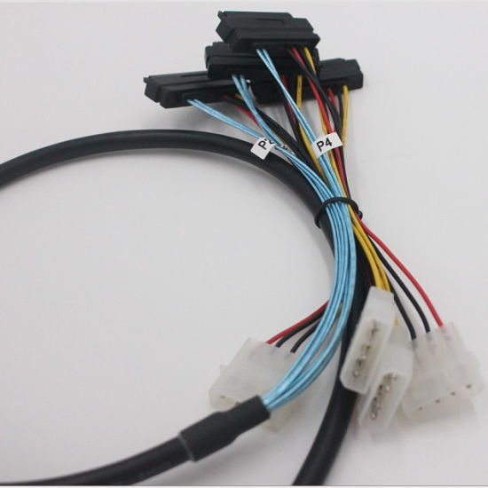 Mini Sas Sff-8088 26p to 4 X Sas Sff-8482 29 Pin Cable with Power pictures & photos