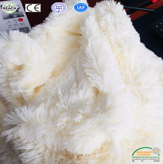 Luxury Pv Fleece Fur Plush Pillow Autumn Winter Sofa Throw Blanket