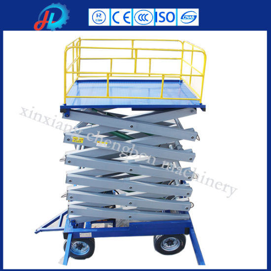 China Wholesale Mini Hydraulic Scissor Lift with Low Price pictures & photos
