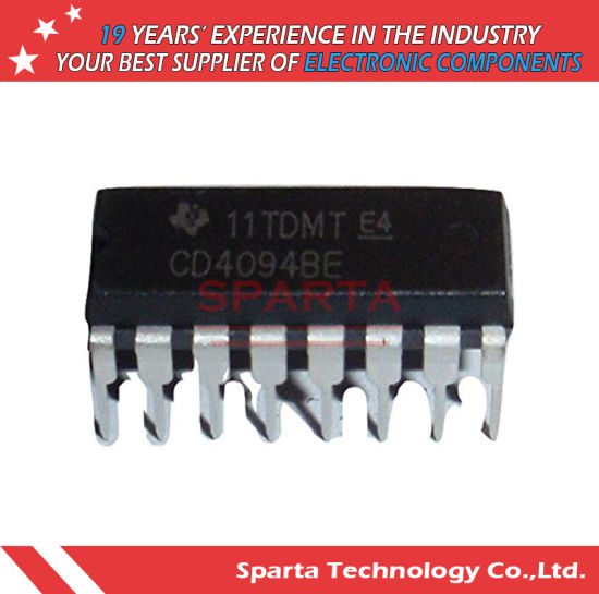china cd4094be cmos dip 16 8 stage shift and store bus register ic
