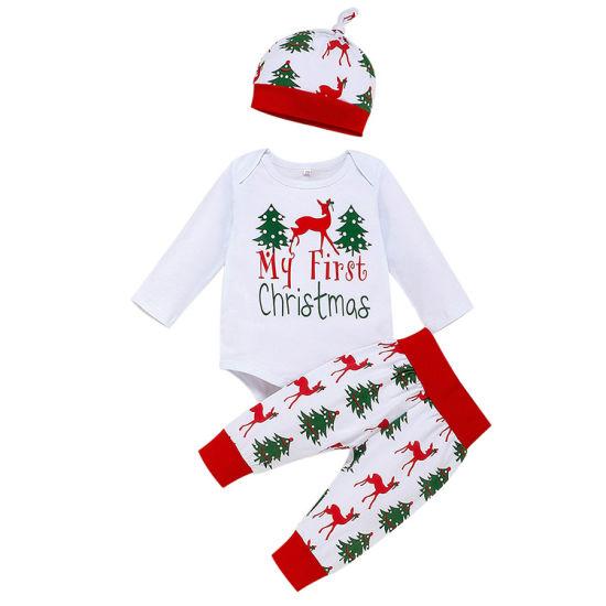 Bkd Unisex Cotton My First Christmas Printing Bodysuit Set
