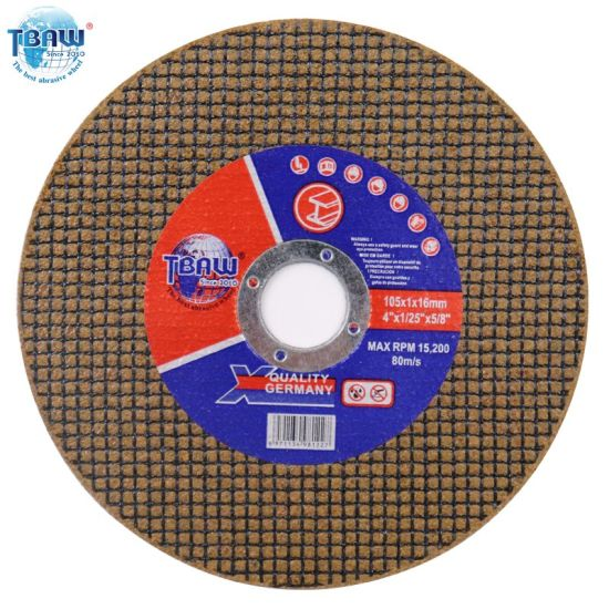 Factory OEM 105*1.0*16mm Abrasive Flat Cutting Disc Wheel for Polishing Metal/Inox/Stainless Steel