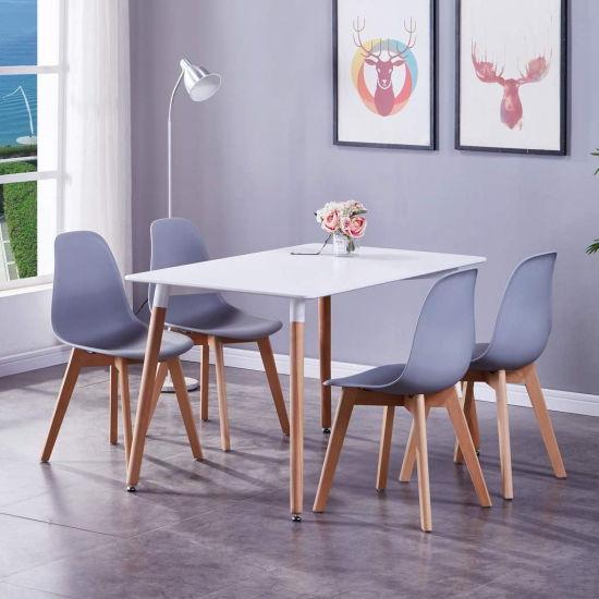 Modern Lower Price Muebles Modernos Home Furniture Manufacturer MDF Dining Tables Restaurant Side Table