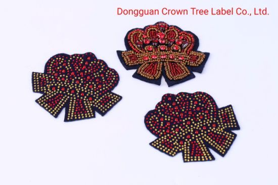 Wholesale Rhinestone Letter Patch Beaded Sew on Patch