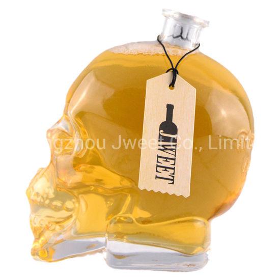 Extra Flint Skull Shape for Gin Vodka Tequila Glass Bottle
