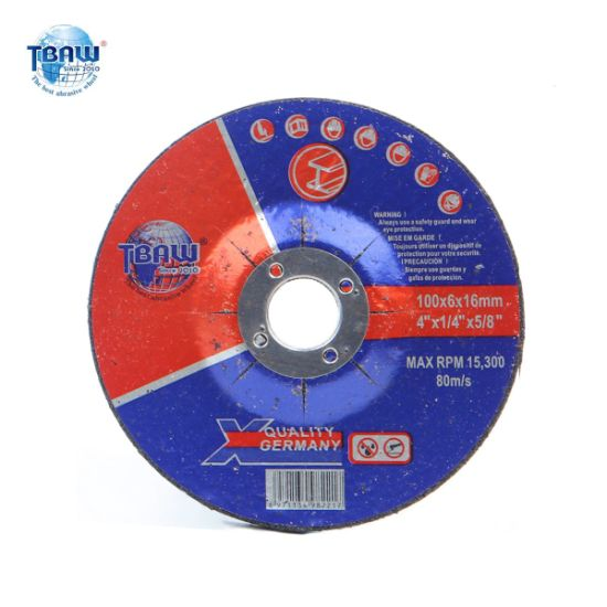 100*6.0*16mm Carbide Grinding Metal Abrasive Cutting/Polishing Disc/Disk Grinder Wheels