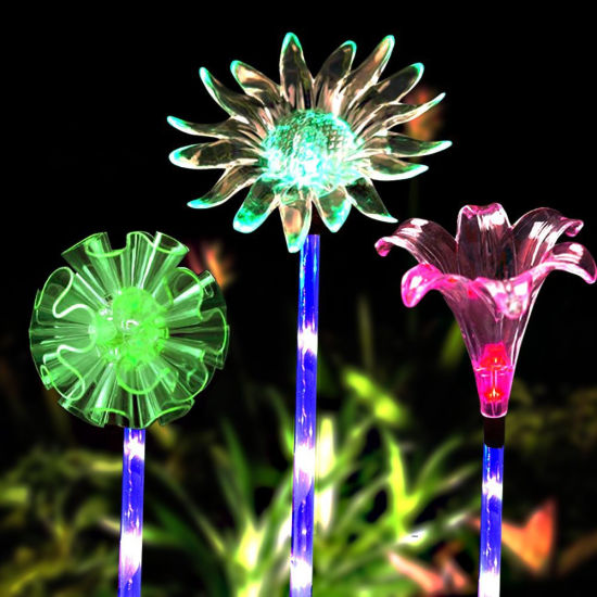 Solar Garden Stake Lights Outdoor, Color Changing LED Stake Solar Lamp