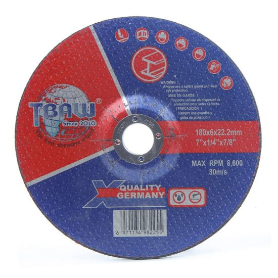 China Factory 180mm High Quality Abrasive Cutting Grinding Wheel for Metal Cutting