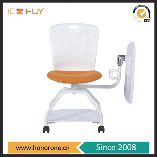 Modern School Training Folding Stack Office Chair with Swivel Table