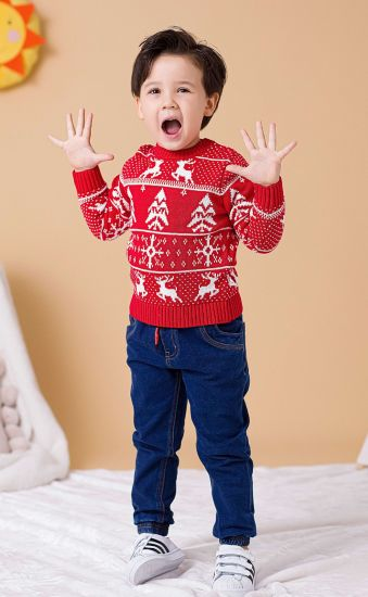Christmas Series Double Knit Pullover Sweater