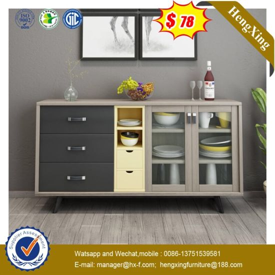 China Factory Wood Kitchen Metal Storage Living Room Cabinets Hx
