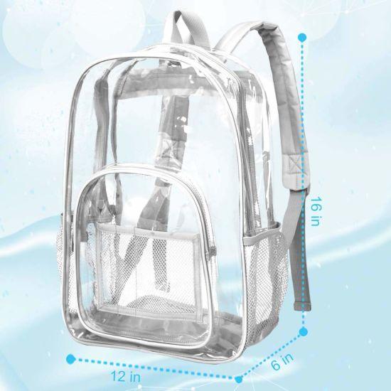 Travel Backpacks Women Shoulder School Bags Preppy Style Large Capacity Clear Bagpack