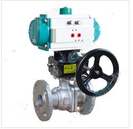 Pneumatic Cut off O- Type Ball Valve with Weld Flange Thread End Connection