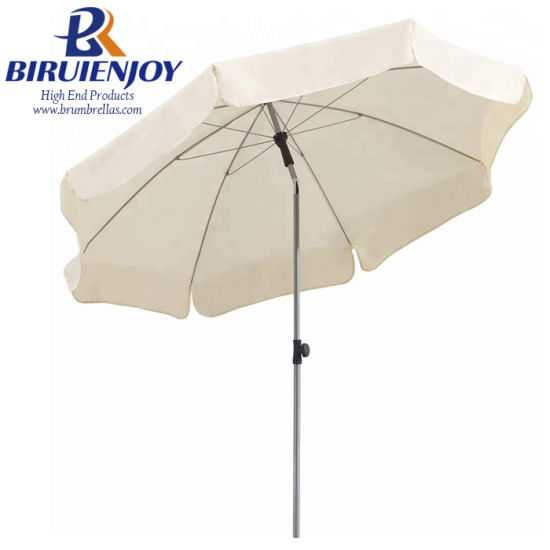 USA Promotional Parasol Beach Umbrella White Polyester for Commercial Market