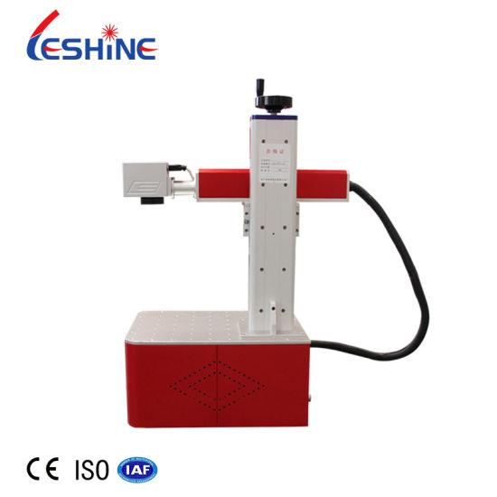 Gy 20W 30W Raycus Mini Laser Marking Machine Portable Fiber Laser Marking Machine for Dog Tags Metal Plastic