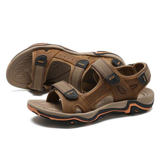4564906c0a61 China Fashion Flat Summer EVA Cheap Wholesale Leather Sandal - China ...