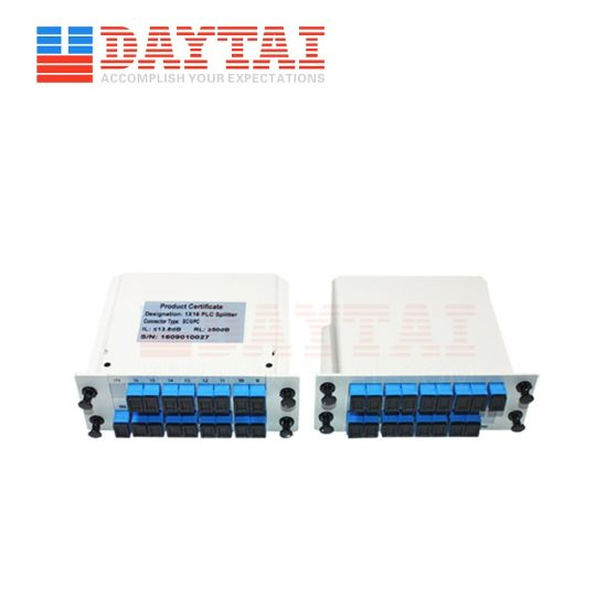 8 Port Cassette Type Optic 1X8 PLC Splitter with Sc/Upc Connector