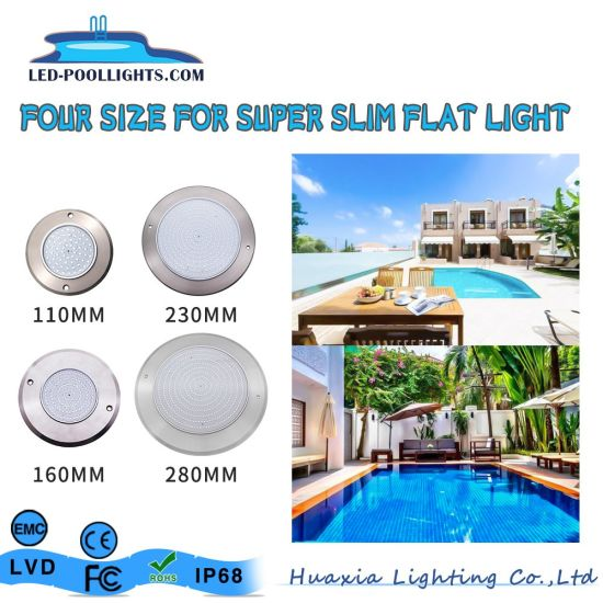 LED PAR56 Super Flat Ultra Thin LED Swimming Pool Lights with Iecee and CB Test