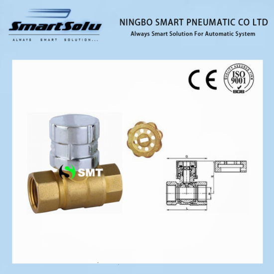 Magnetic Lock Brass Ball Valve pictures & photos