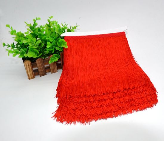 Wholesale High Quality 32 Colors Thickness Polyester Tassel Fringe