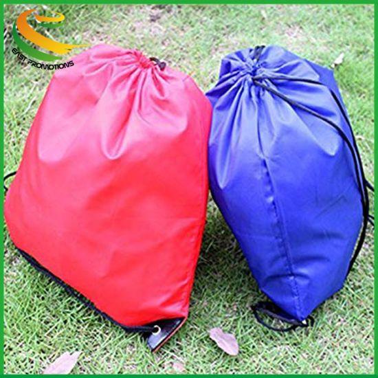Scrox Drawstring Backpack Bag Solid Color Waterproof Folding Backpack Gym Sport Bag Travel Tote Shoulder Bags for School Home Travel Sport Storage