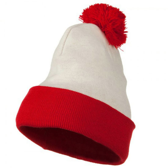 c9f9fe75b5da8 China Two Tone Knitted Acrylic Winter Beanie Toque Hat - China Red ...