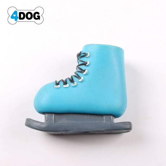 Ice Skates Shape Dog Squeaky Toy Fetch Toys, Pet Toy