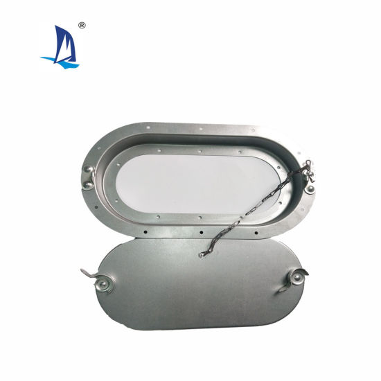 Zinc Coated Cam Latch Oval Duct Access Panel with Gasket