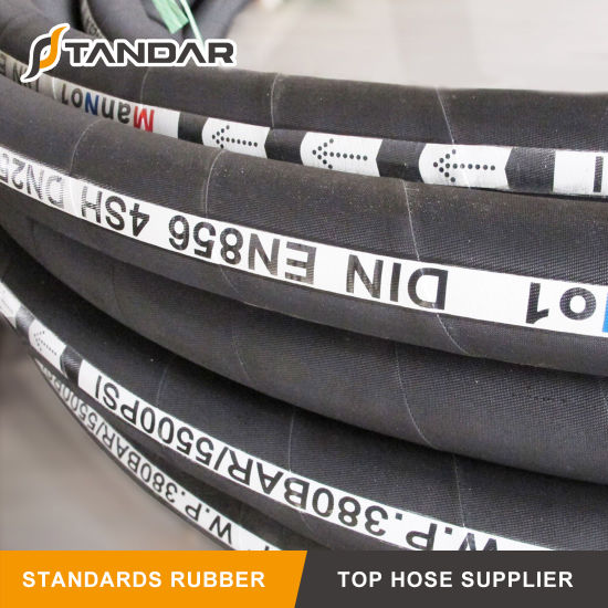4sh High Pressure Hydraulic Rubber Oil Hose for Truck Parts