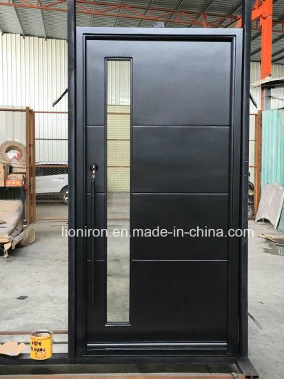 Square Top Custom Iron Front Doors