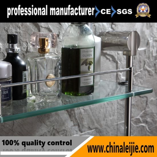 Elegant Stainless Steel Double Layer Glass Shelf (LJ55014) pictures & photos